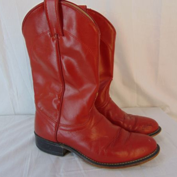 019e9ef05e3 Vintage Laredo Red Western Boots Womens 7 Leather